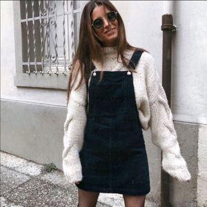 Grey Corduroy button dress